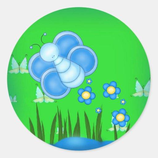 Sticker-Blue Butterfly