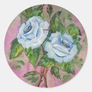 Sticker Blue Roses
