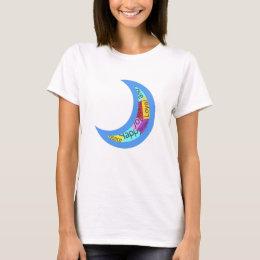 Sticker Bomb Moon T-Shirt