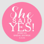 Sticker | Bridal Shower - She Said Yes!
