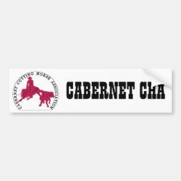 Sticker Cabernet CHA Blanc et Rose