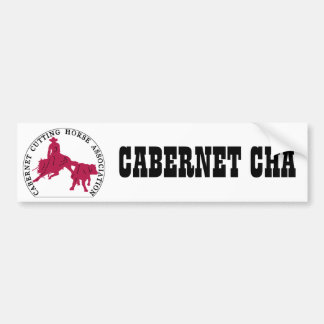 Sticker Cabernet CHA Blanc et Rose