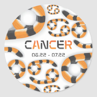"""Sticker  """"Cancer in Tiger's Style""""."""