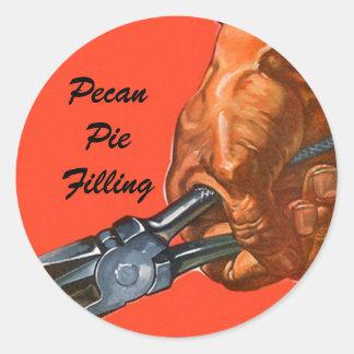 Sticker Canning Pecan Pie Pecans Nut Crackers