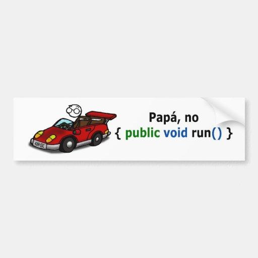 Sticker car - For papas programmers…