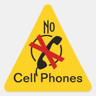 Sticker Caution Restrict No Cell Phones Sign alert