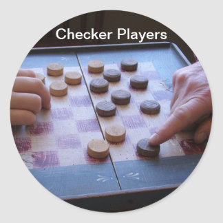 Sticker/Checkers Classic Round Sticker