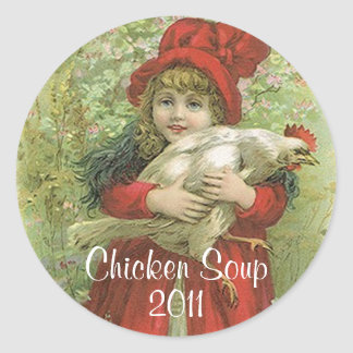 Sticker Chicken Meat Soup Home Canning Jar Circles