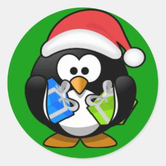 Sticker -  Christmas Penguin