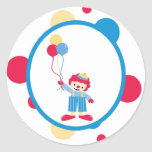 sticker circus cute fun clown balloons polk a dots