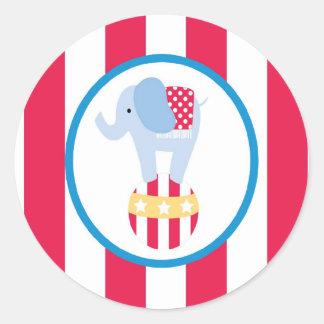 sticker circus cute fun elephant ball stripes