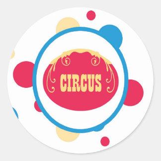 sticker circus cute fun polk a dots colorful