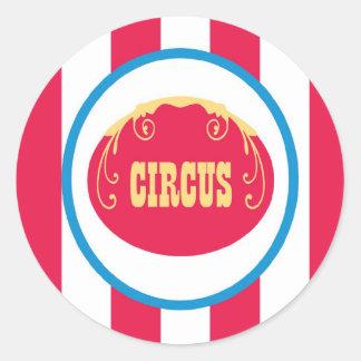 sticker circus cute fun stripes colorful