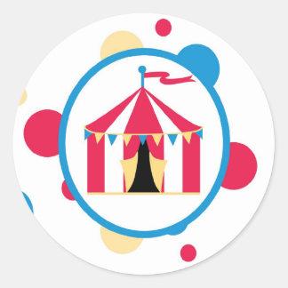 sticker circus cute fun tent  polk a dots colorful