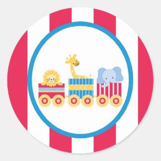 sticker circus cute fun trian animals stripes