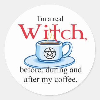 sticker Coffee Witch