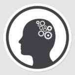 Sticker | Cogs Working in the Brain