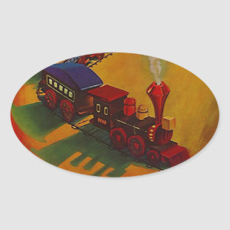 Sticker Colorful Vintage Miniature Train toy toys