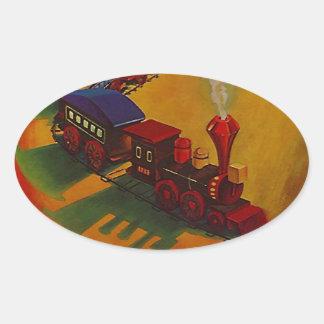 Sticker Colorful Vintage Miniature Train toy toys