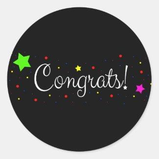 Sticker - Congrats! Pegatina Redonda