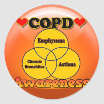 STICKER-COPD CLASSIC ROUND STICKER