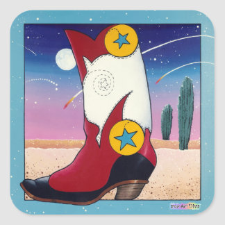 Sticker - Cowboy Boots, All Dressed Up