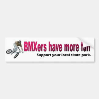 Sticker_ de parachoques BMXers se divierte más Etiqueta De Parachoque