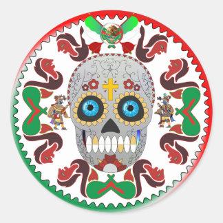 Sticker-Dead-Button-Ver-1 Pegatina Redonda