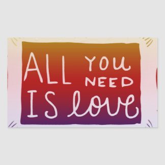Sticker Decal All You Need Is Love