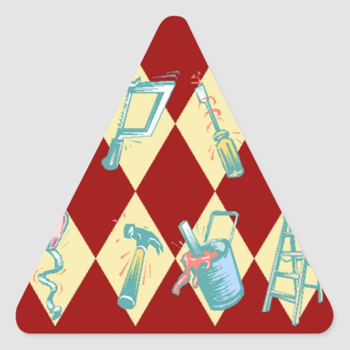 Sticker DIY Home Improvement Tools Triangle