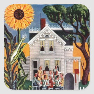 Sticker Family Reunion Porch Sunflower Scrapbook