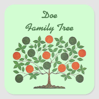 Sticker Family Tree Genealogy Scrapbooking Craft
