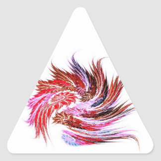 """Sticker """"feathers"""" red knows"""