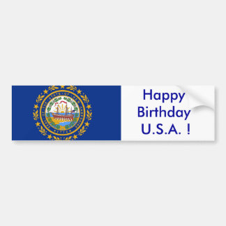 Sticker Flag of  New Hampshire
