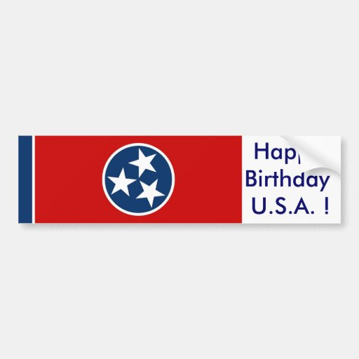 Sticker Flag of Tennessee Bumper Stickers