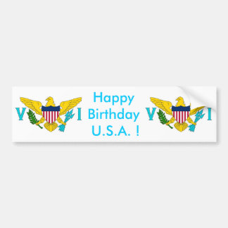 Sticker Flag of Virgin Islands - USA Car Bumper Sticker