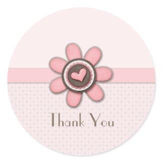 Sticker - Floral Button Pegatina Redonda