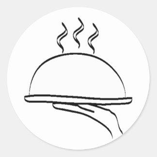 Sticker_Food Pegatina Redonda