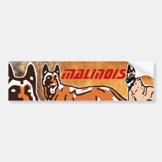 sticker for car malinois bumper sticker