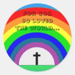 Sticker: For God so loved the world...