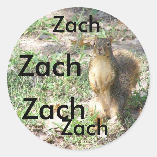 Sticker for name ZACH