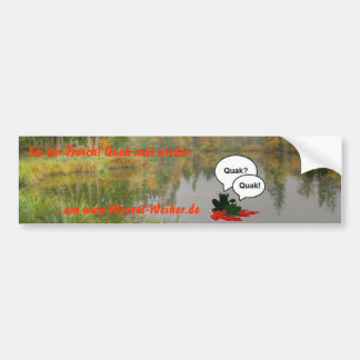 Sticker for pond frogs car bumper sticker