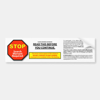 Sticker for safes & homes bumper stickers