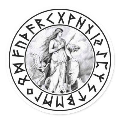 rune sacred to rune freya describes herself quality leather drawstringFreyja Rune