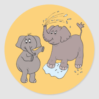 "sticker funny elephants ""cartoon"""