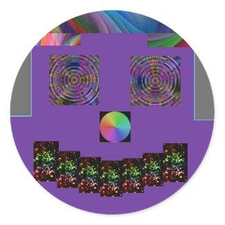 sticker funny face