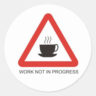 Sticker funny warning sign