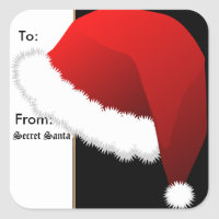 Sticker Gift Tags Secret Santa
