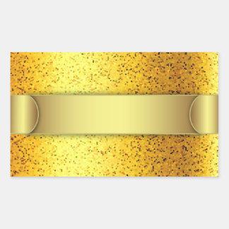 Sticker Glitter Graphic Gold
