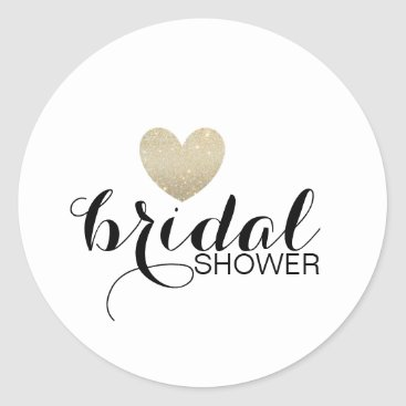 Valentines Themed Sticker - Glitter Heart Fab Bridal Shower